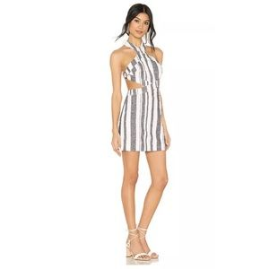 majorelle revolve cosmo dress in blue stripe